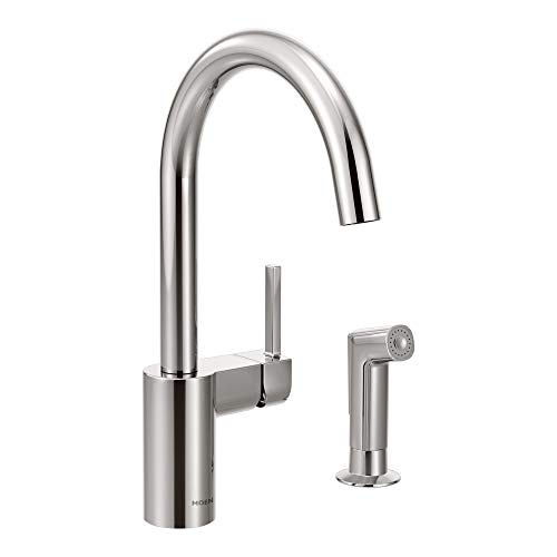 Moen 7165 Align One-Handle High-Arc Modern Kitchen Faucet with Side Spray, Chrome