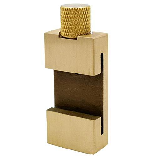 Akaddy Stahllineal Holzbearbeitung Winkelschreiber Messing Positionierblock - 30cm