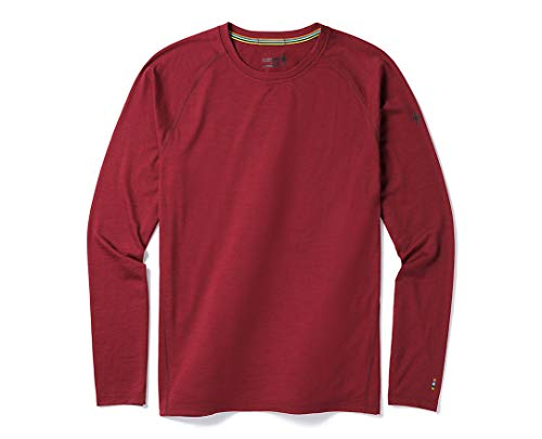 Smartwool Men's Base Layer Top - Merino 150 Wool Active Long Sleeve Tibetan RED Small