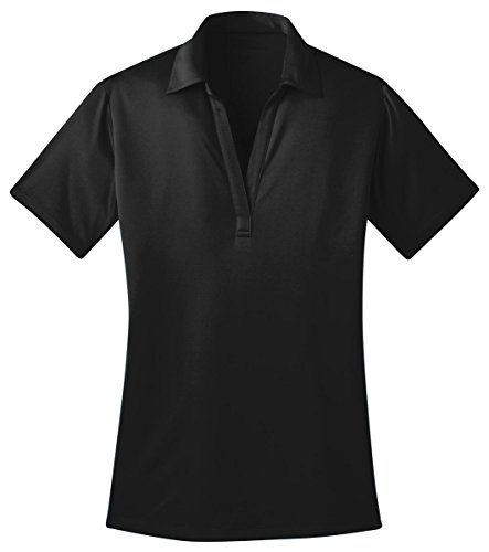 Port Authority Ladies Silk Touch Performance Polo Shirt, S, Black