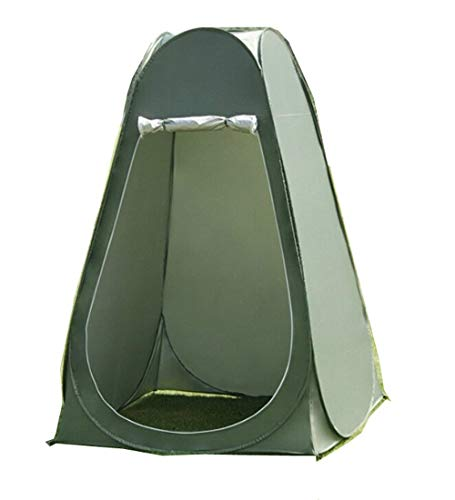 Pop Up Pod Toilet Tent Privacy Shelter Tent Camping Shower Potable Outdoor Changing Room Dark Green