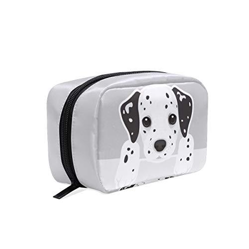 Sac cosmétique avec fermeture à glissière mignon chien dalmatien sac de rangement de voyage d'embrayage sac de maquillage sac de rangement pour les femmes