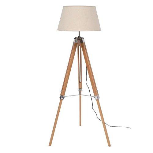 NATURE lampadaire bois abat-jour tissu naturel