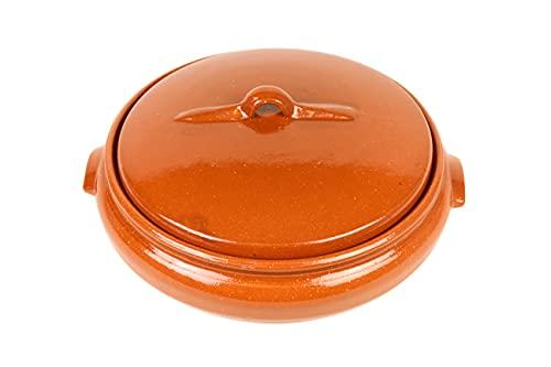 3. Artesanía Roca – Olla de barro de baja cazuela con capacidad de 2,5 litros