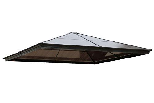 OUTFLEXX Ersatzdach für Pavillon, transparent, Polycarbonatplatten, 3x3m