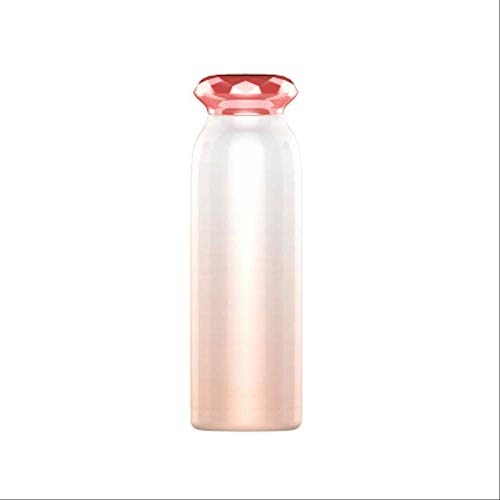 Thermomok GJDBBLY Diamond Roestvrijstalen Thermosflessen Thermos Cup Koffie Thee Melk Reismok Thermo Waterfles 7.1cm * 22.8cm rose goud