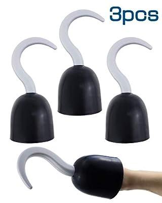 "Agreatca 3 pcs Pirate Hooks?Pirate Captain 8"" Hook Hand?Plastic Hook Pirate Costume Accessory"