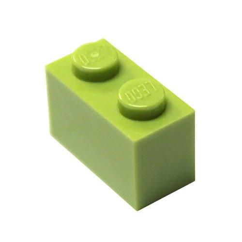 LEGO Piezas y Piezas: Lima (Verde Amarillento Brillante) 1x2 Ladrillo x100