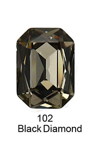 K9 Cristal Rectangle Octagon strass Strass pour vêtements nail art Strass couture Pointback Verre Bling Fantaisie cristal, 120,13 18mm 6pcs