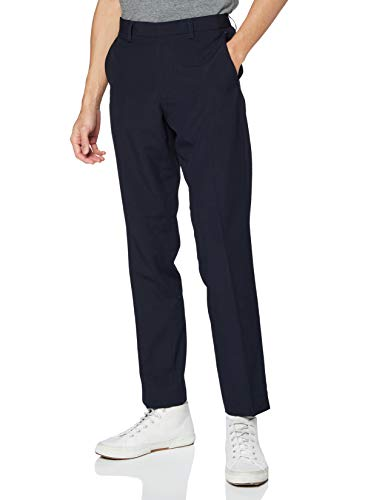 Amazon-Marke: find. Herren Schmale Anzughose, Blau, 32W / 29L, Label: 32W / 29L