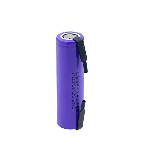 HTRN 3.7v 2600mah 18650 Batería, BateríAs De Litio Recargables 10a + Pieza De níQuel DIY para Linterna 1PCS