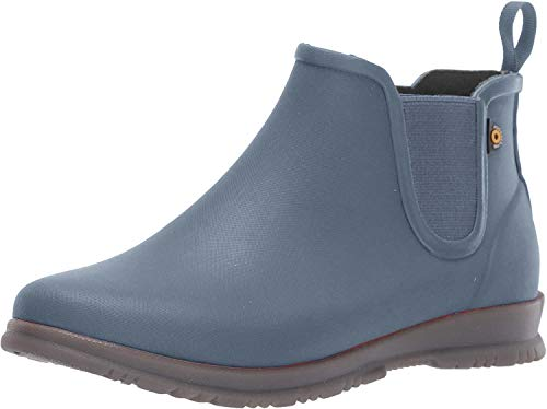 BOGS womens Sweetpea Ankle Height Rubber Rain Boot, Misty Gray, 11 US