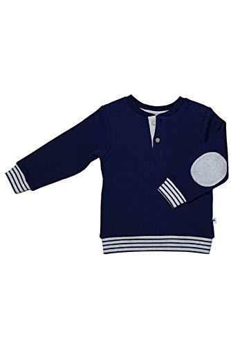 Leela Cotton Baby/Kinder Sweatshirt aus Reiner Bio-Baumwolle, Marineblau, 128