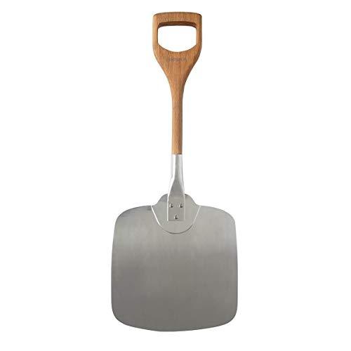 Boska Pala per Pizza/Maniglia corta & brevettata/Per uso con una sola mano/Alluminio & legno di quercia / 30x74x3 cm