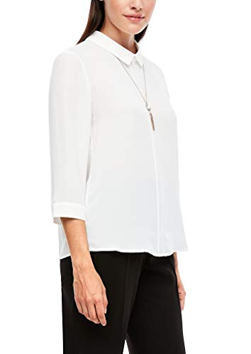 s.Oliver BLACK LABEL Damen Bluse mit Bubikragen Soft White 46