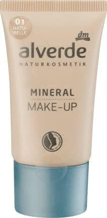 alverde NATURKOSMETIK vegan Mineral Make-up naturelle 01, 30 ml