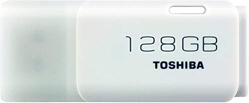 Toshiba Hayabusa Pendrive 128 GB, Memoria USB 2.0, Blanco