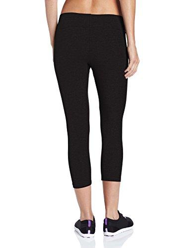 Jockey Women's Capri Legging with Wide Waistband, Deep Black, 1X