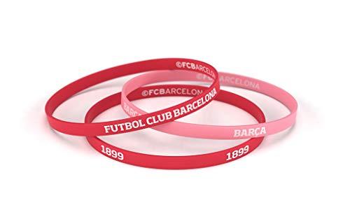 Fútbol Club Barcelona Pulsera Rojo Coral Estándar para Hombre | Pulsera Barça de Silicona | Apoya al FCBarcelona con un Producto Oficial culé | FCB