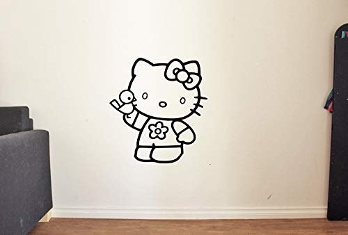 Beautiful Hello Kitty with Toy Wall Decal for Nursery Girls Room Decor Vinyl Stickers MK0036