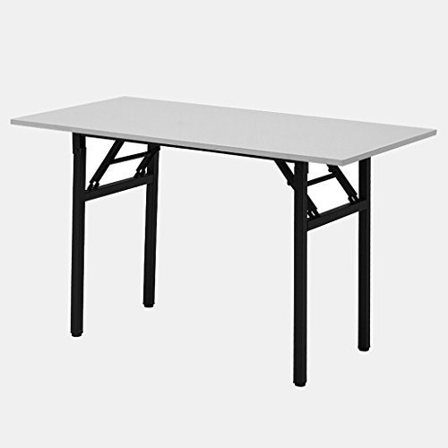 Mesa de Banquete Plegable Mesa de Escritorio Plegable Moderna Simple Mesa de Escritorio Plegable Mesa de Estudio Mesa de reunión (Color : Black, tamaño : 120 * 60 * 74CM)
