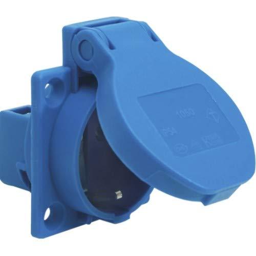 SIROX® Schutzkontakt-Einbau-Steckdosen IP 54 blau Leitungszuführung rückwärtig, Farbe blau