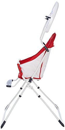 MON BEBE Chaise Haute pour bébé/enfant pliable et confortable avec tablette, Navy Blue