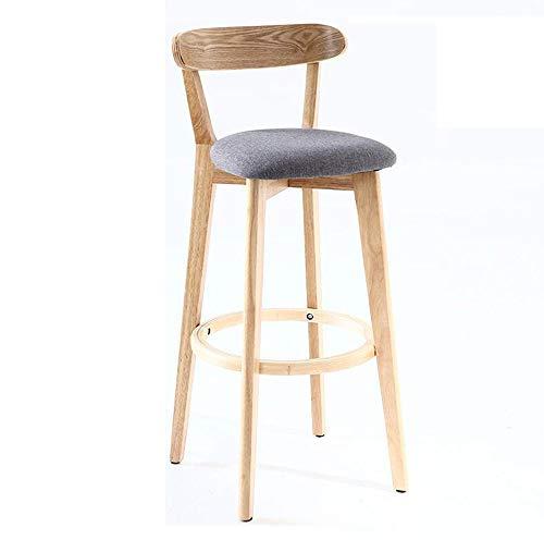 FENG Barstoel/kruk met rugleuning Vintage massief hout eettafel stoel/bureaustoel/hoge kruk/familie/woonkamer FFN