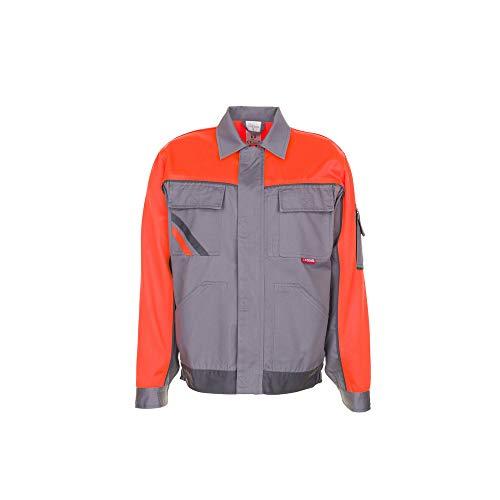 Planam 2410068 Visline V1-Chaqueta de Trabajo (Talla 68), Color Gris, Zinc/naranja/pizarra, 64