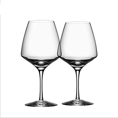 FEANG Wine Glasses Wine Glasses Set - Crystal Glass Lead-Free 460 Ml Glassware for Great Tasting Wine, Anniversary & Wedding Gifts - Kit Of 4 Champagne Glasses