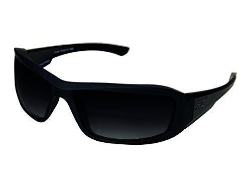 Edgeware Adultes Edge Tactical Safety Eyewear, Hamel, Noir Mat, revêtement Verres, Polaris ierend, dégradé Gradient Smoke Lunettes de Protection, Multicolore, Taille Unique