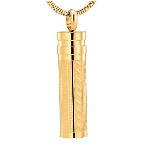 Wxcvz Collar De Urna De Cremación Cilindro Memorial Joyería Sostenga Mascota Y Cenizas Funerarias Humanas Recuerdo Cremación Medallón Collar Colgante para Hombres