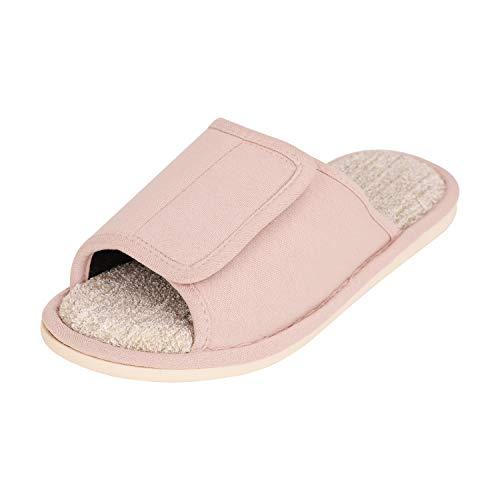 Diabetiker Hausschuhe mit Klettverschluss rutschfeste Süße Pantoffeln Weiche Flache Sandalen für Outdoor oder Indoor