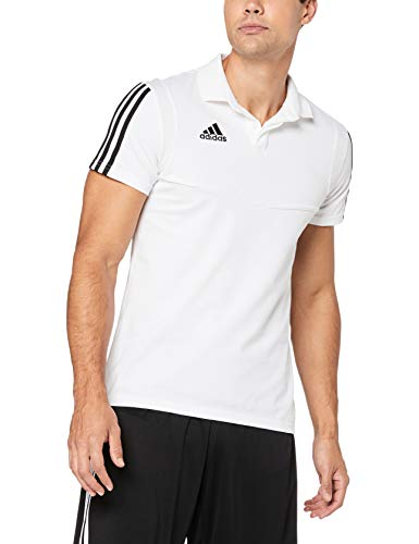 adidas Herren TIRO19 CO Polo Shirt, White/Black, XL