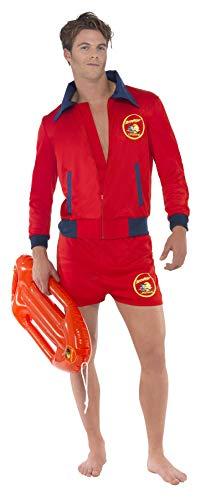 Smiffys Licenciado oficialmente Costume de maître-nageur Baywatch Rouge, avec haut et short