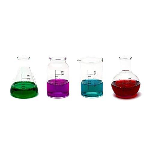 Set di Chimica Bicchieri da Shot Bicchierini Ottimo per le feste Chemistry 30ml Set di 4