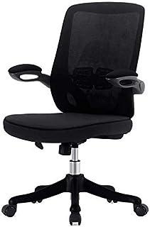 CHAIR Silla Escritorios y sillas para el hogar, sillas de estudio ajustables en altura en dormitorios de estudiantes, adecuadas para conferencias y sillas de oficina de recepción,Negro
