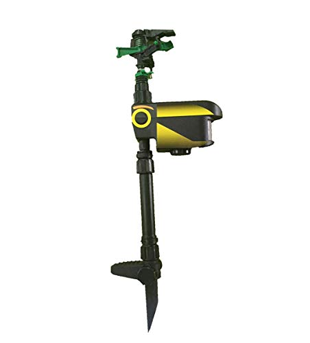 Wichai Shop Solar Scarecrow Powered Motion Activated Animal Repeller Garden Sprinkler Black Repellent New #124