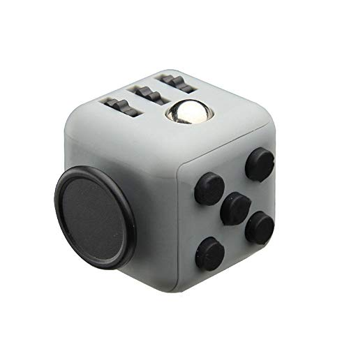 WANJU Fidget Cube,Creative 6 Sides Dice/Irritability Anxiety Relief Stress Finger Decompression Rubik's Cube Decompression Venting Grey