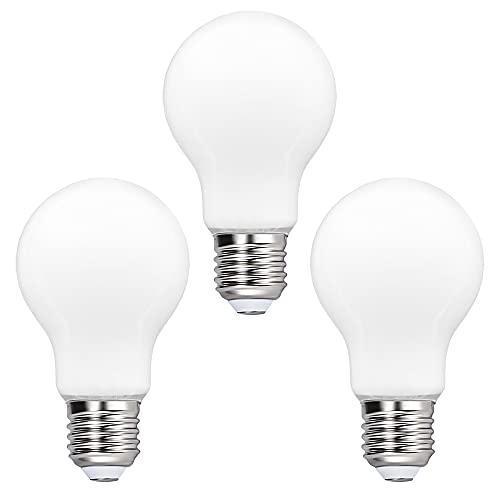 Lamparas Bombillas Globos de LED de Edison E27 Bajo Consumo A60 8W 1100Lm Luz Fria 5000K 360° Iluminación Omnidireccional para Lampara de Techo Lot de 3 de Enuotek