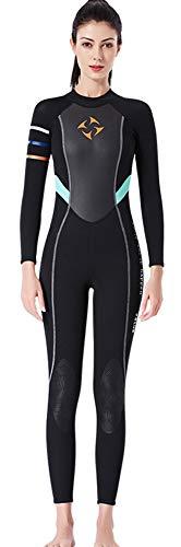 E-Qianw Traje De Neopreno para Mujeres De 3 mm De Neopreno Traje De Neopreno De Manga Larga Trajes De Buceo para Nadar Buceo Surfear Kayak Snorkeling,XL
