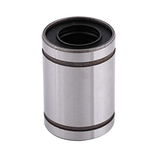 Cojinete BiuZi 1Pc LM12UU 12mm ID 20mm OD Cojinete lineal Cojinete Cojinete Cojinete de bolas lineal de acero para 12mm Varilla Impresora 3D Piezas de CNC