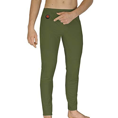 Glovii GP1C Pantalon Thermique Batterie Chauffée Longues Jambes, Tailles S-XL, Camouflage, Batterie Incluse (S)