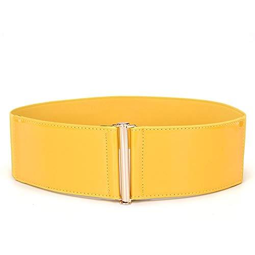 Cinturón De Las Mujeres De Abrigo Elástico Sencillo Cintura Charol Ropa festiva...