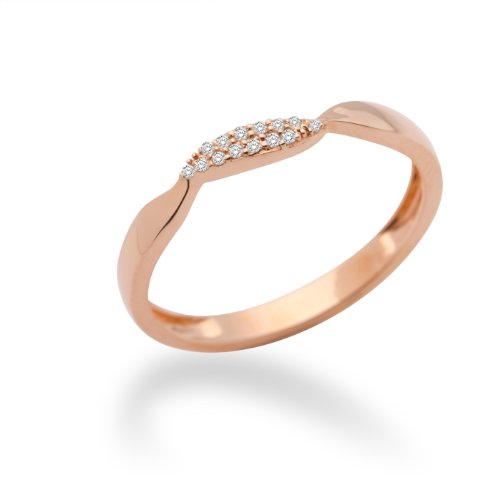 Miore Damen-Ring 9 Karat (375) Rotgold mit Brillanten 0.05ct