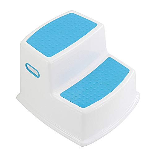 Syfinee 2 Step Stool for Kids Toddler Stool for Toilet Potty Training Slip Bathroom Kitchen