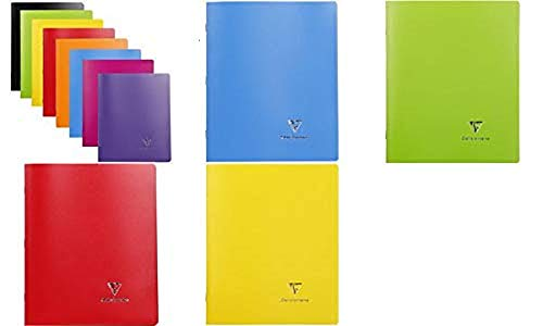 Clairefontaine Koverbook 17x 22cm Seyes Rayado opaco funda Polypro libreta grapada, color...