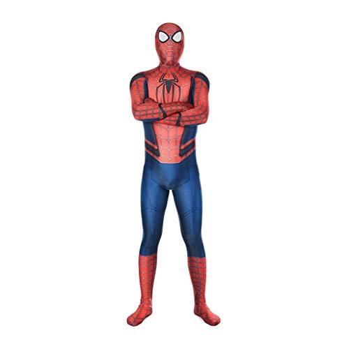 Avondjurk Prom kostuum Cosplay Superhero Movie Spiderman kostuum-kinder volwassenen overall-Thema-party panty Onesies SPIDERSYBB Adult-XXL(175-185) rood