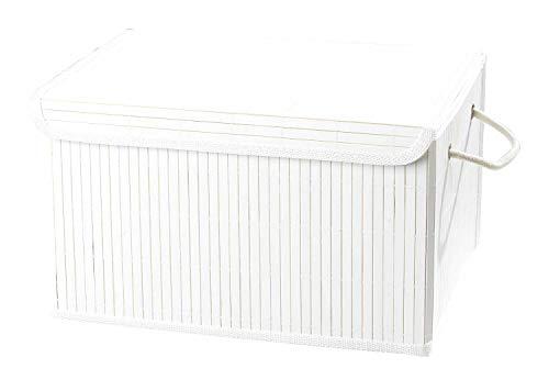 Home4You Aufbewahrungsbox Dekobox Aufbewahrungskiste | Weiß | mit Deckel | 38x28x22 cm