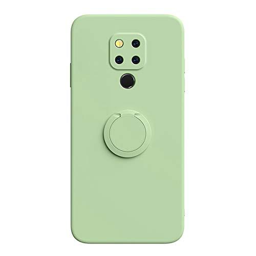 ZDCASE Funda para Huawei Mate 20 X, con 360 Grados Rotación Anillo Soporte & Magnético Parche Líquido Silicona TPU Suave A Prueba de choques Funda para Huawei Mate 20 X - Verde Claro